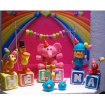 Pocoyo Y Sus Amigos De Fiesta !!! + 5 Cubos Con Tu Nombre!!