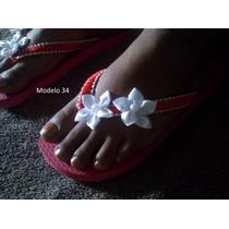 Chinelos Havaianas Sandálias Personalizadas Com Fita D Cetim