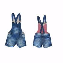 Jardineira Infantil Jeans Feminina Infantil - 010192