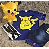 Conjunto Fantasia Infantil Festa Pokemon Go Pikachu!