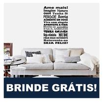 Adesivos De Parede Frases Decorativas Personalizada + Brinde