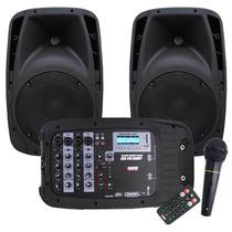 Som Portátil Caixa Mesa Usb Microfone Bluetooth - Novik 410