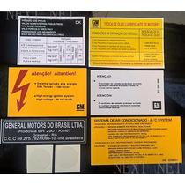 Etiqueta Adesivo Gm Capo Motor Mini Frente Celta Gravatai Rs