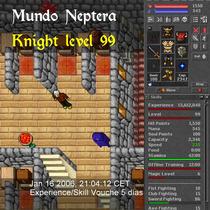 Tibia Chars | Knight 99 Mundo Neptera Carta De Rk