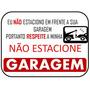 Placa Sinalização Garagem Impresso Plástificado