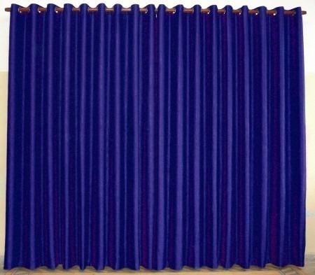Cortina Rústica P/ Quarto De Menino E Bebê Azul Marinho 3m - R$ 89,90 em Mercado Livre