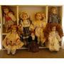 Colección De 7 Muñecas Antiguas De Porcelana En Buen Estado