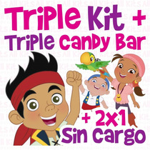 Kit Imprimible Jake Y Los Piratas Triple! + 2x1 + Env Gratis