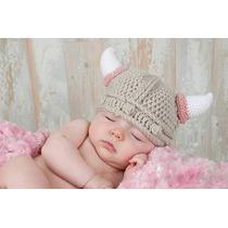 Gorrito De Crochet Estilo Vikingo