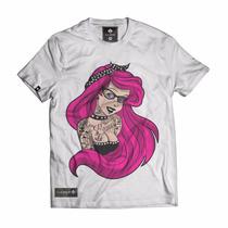 Camisa Camiseta Blusa Feminina Princesa Tatoada Geek Rock