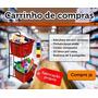 Carrinho Supermercado 50 Litros Com Cestos Removiveis