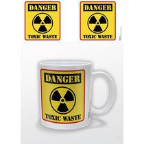 Residuos Tóxicos Cartel - Peligro Taza De Cerámica Taza De