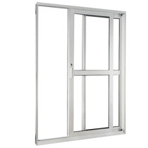 Porta Balcão 2 Folhas De Vidro Linha 25 Suprema 1,20x2,00m