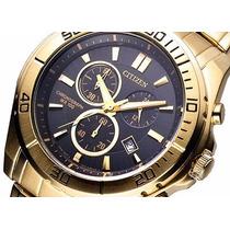 Relógio Citizen Cronógrafo An7102-54e Preto/dourado