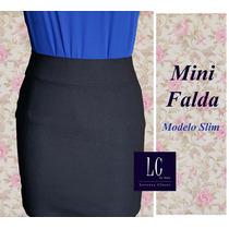 Mini Falda Elegante Y Sexy Confección Nacional (moda Mujer)