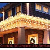 Cascata 400 Lâmpadas - Luz Fixa - Não Pisca 110v