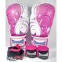 Kit De Boxe Muay Thai Feminino - Luva + Bandagem + Bucal