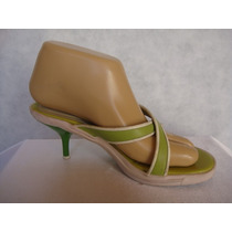 Sarkany Sandalias Nro 35 Color Verde Con Blanco