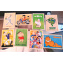 Lote C 8 Cartões Postal Desenhos Animes, Dragonball, Popeye