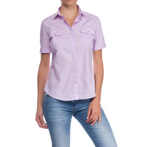 Camisa Mujer Kevingston Oficial Sauco Bsness Esc M/c