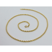 Dg Joias Cordão Baiano Masculino Corda 60cm Ouro 18k