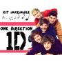 Kit Imprimible One Direction, Tarjetas, Cumpleaños Y Mas.