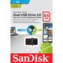Pendrive Sandisk Ultra Dual Otg 64gb Original Blister Oferta