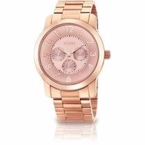 Relógio Euro Grande Feminino Brande Dourado Rose Eu6p29ab/4t