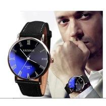 Relógio Barato Importado Yazole Em Couro Masculino