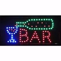 Placa De Led Letreiro Luminoso Painel Bar