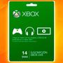 Membresia Xbox Live 14 Dias 2 Semanas Entrega Inmediata!!