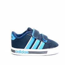 Zapatillas Adidas Neo Daily Team Niños Bebes Azul C/celeste
