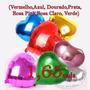 Balão Metalizado Coração Cores C/45cm