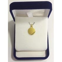 Medalla Redonda Para Grabar De Oro 18 K Garantizada