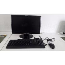 Computador Cpu Desktop 2.0ghz 1gb 80gb Completo Tela