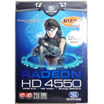 Placa De Vídeo - Radeon Hd 4550 - Sapphire - Remanufaturada