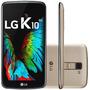 Smartphone Lg K10 5,3 16gb 4g Câmera 13mp Tv Duals Dourado