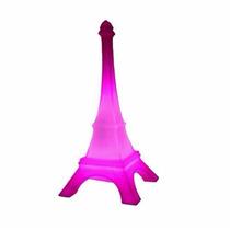 Luminária Torre Eiffel Paris Rosa Abajur De Mesa Usare