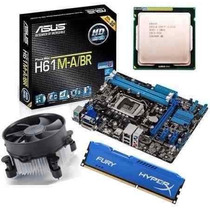 Kit Asus H61 M-a Hdmi + Core I5 3470 3.6 Ghz + 8gb Hyperx