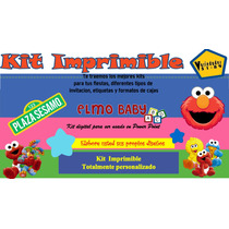 Kit Imprimible Plaza Sesamo Bebe,elmo Bebe