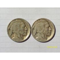 Estados Unidos 5 Centavos Bufalo 1928 Y 1929