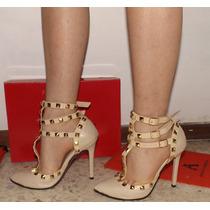 Zapatillas Finas Arthuro-azpeitia Tacon Estoperoles Stiletto