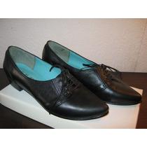 Zapatos Mujer Cuero Negros Perugia 37