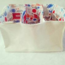 Canasto Organizador Pañales Tela Higiene Bebé
