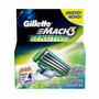 Carga Mach3 Sensitive Gillette - 4 Cartuchos