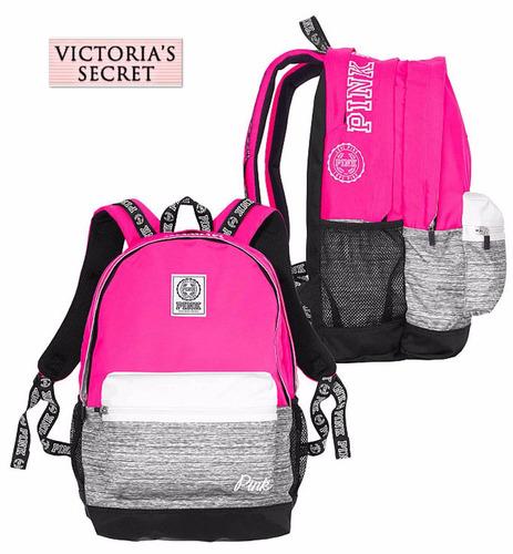 Bolsa Dourada Victoria Secrets : Bolsa victoria s secret backpack rosa gris mochila super