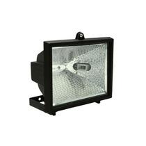 Refletor Preto S/sensor C/lâmpada Halógena 150w