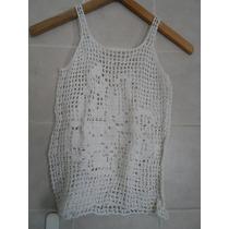 Musculosa Tejida Al Crochet 100% Artesanal