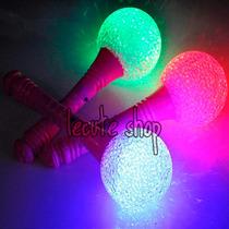 10 Microfonos Luminosos Luz Led Fiesta Cetros Batucada Party