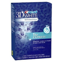 Crest 3d White Teeth 1 Horas Expreso Whitening Tiras 2 Count